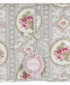 Copritutto floreale Blanc Mariclo Mirabell 260x250 cm Grigio