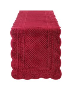 Runner Blanc Mariclo Carmen Collection Rosso Bordeaux