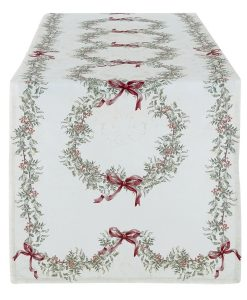 Runner Blanc Mariclo White Christmas Collection 50x150 cm