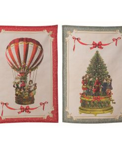 canovacci assortiti Blanc Mariclo Vintage Christmas Collection