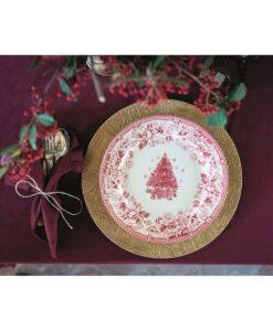 Servizio piatti Blanc Mariclo Diana Rose Christmas