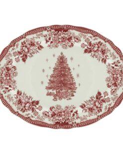 Vassoio ovale Blanc Mariclo Diana Rose Christmas