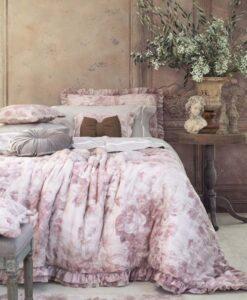 Trapunta matrimoniale Blanc Mariclo Affresco Collection Rosa 390 gsm