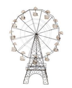 Decoro ruota panoramica Blanc Mariclò L 50 x P 25 x H 72 cm