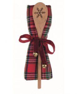 Canovaccio tartan con mestolo Blanc Mariclo Christmas Gift Collection