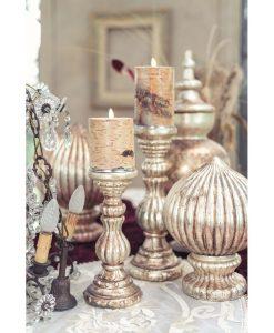 Porta candela Blanc Mariclò Laudomia Collection