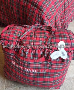Trapunta Tartan Blanc Mariclo con gala Vischio 530 gsm