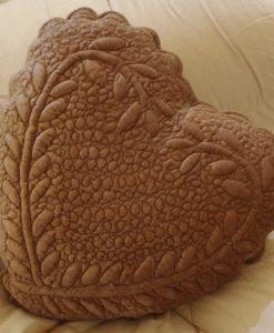Cuscino cuore Blanc Mariclo Soft Velvet Linen Collection 45x45 cm