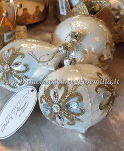 Decoro assortito in vetro Blanc Mariclo Dorotea Collection H 10 cm