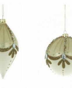 Set 2 Decoro assortito in vetro Blanc Mariclo Dorotea Collection H 10 cm Oro