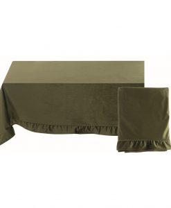 Copritutto velluto Blanc Mariclo Tempera Collection 160x270 cm Verde